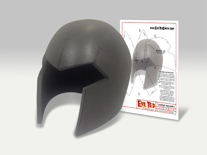 Large Helmet Pattern The Evil Ted Channel