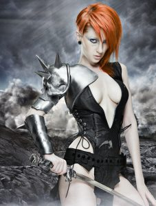Evil Ted Smith Female fantasy pauldron
