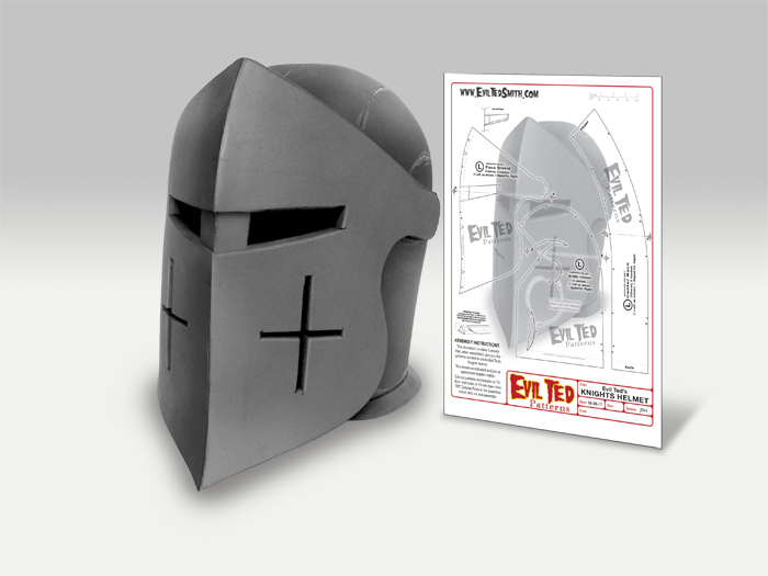 Knights Helmet Pattern - The Evil Ted Channel